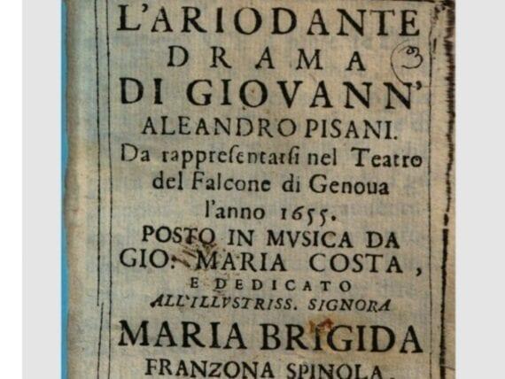 L'Ariodante di Giovanni Andrea Spinola
