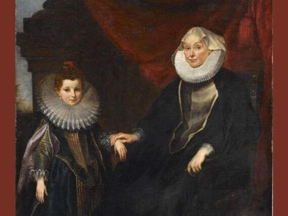 Ritratto di Bianca Spinola Imperiale con la nipote Maddalena Imperiale
