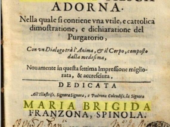 Vita Mirabile e dottrina santa della Beata Caterina Fieschi Adorno – Ristampa