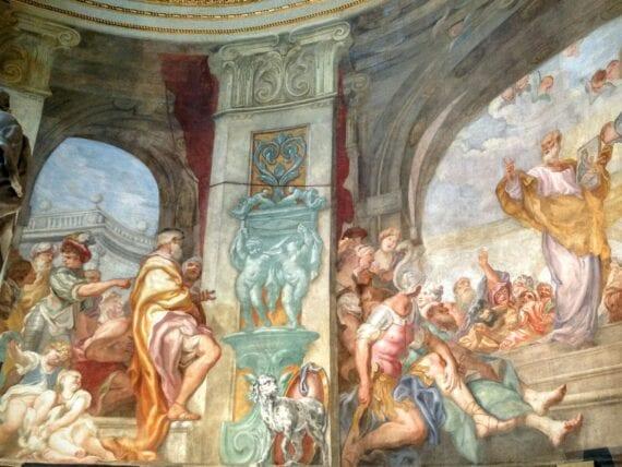 Chiesa di San Luca, gli affreschi